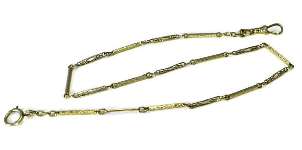 14k Gold Pocket Watch Chain Art Deco Era - Premier Estate Gallery 3