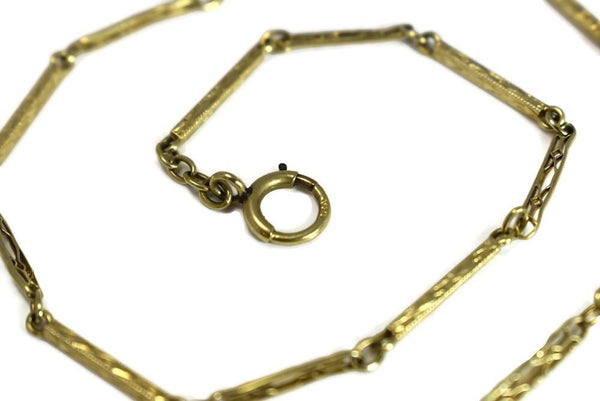14k Gold Pocket Watch Chain Art Deco Era - Premier Estate Gallery 5