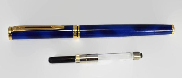Vintage Waterman Preface Fountain Pen Blue Lacquer France 18k Nib - Premier Estate Gallery 2