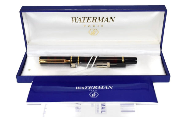 Vintage Waterman Laureat Fountain Pen France Shadowed Red Lacquer with Converter and Box - Premier Estate Gallery 2
