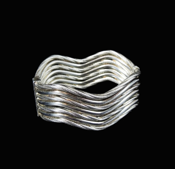 Sterling Silver Hinged Cuff Bracelet Clamper - Premier Estate Gallery  - 1
