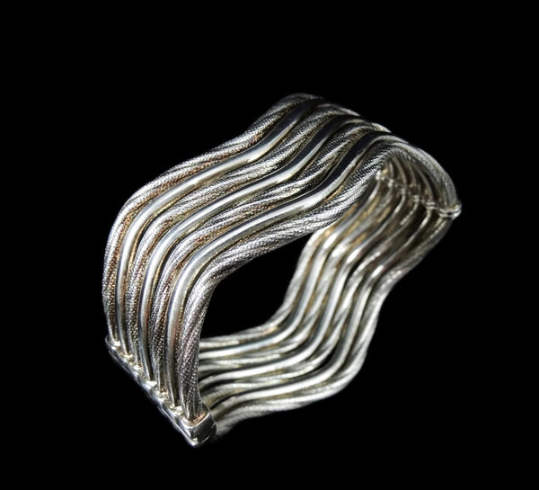 Sterling Silver Hinged Cuff Bracelet Clamper - Premier Estate Gallery  - 2