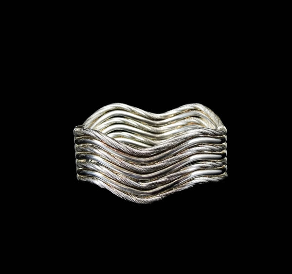 Sterling Silver Hinged Cuff Bracelet Clamper - Premier Estate Gallery  - 5