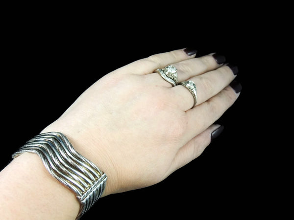 Sterling Silver Hinged Cuff Bracelet Clamper - Premier Estate Gallery  - 6