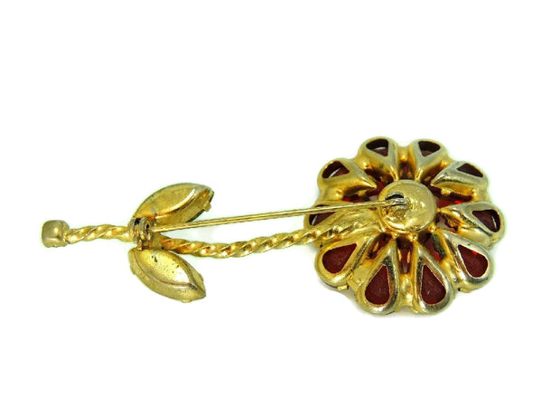 Vintage Weiss Flower Rhinestone Brooch Large Bright Stones - Premier Estate Gallery  - 3