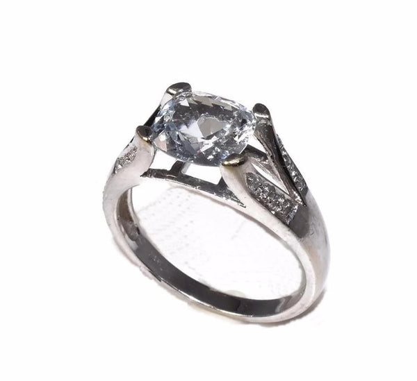 14k Aquamarine Cushion Cut Diamond Ring White Gold 1.54 Cts