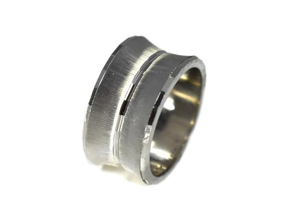 14k WG Wedding Band Vintage White Gold Wedding Ring - Premier Estate Gallery
