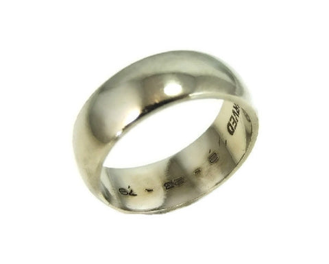 Vintage Artcarved 14k Wedding Band White Gold Wide Band - Premier Estate Gallery  - 1