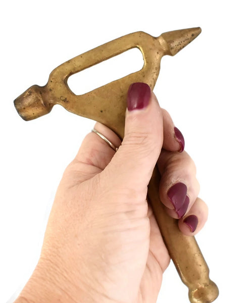 Vintage Solid Brass Barware Tool, Bottle Opener, Muddler - Premier Estate Gallery 3