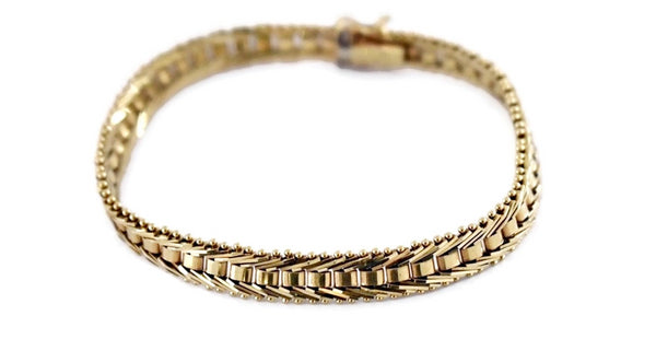 Estate 14k Imperial Gold Fancy Link Bracelet - Premier Estate Jewelry 1