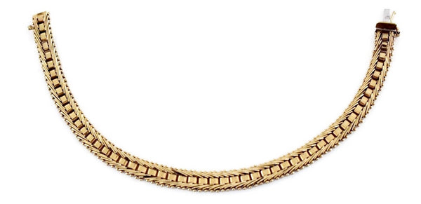 Estate 14k Imperial Gold Fancy Link Bracelet - Premier Estate Jewelry 2