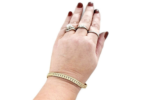 Estate 14k Imperial Gold Fancy Link Bracelet Over 13g
