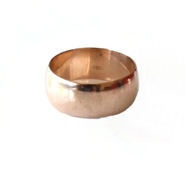 Vintage 14k Rose Gold Wedding Band Wide 9mm - Premier Estate Gallery 3