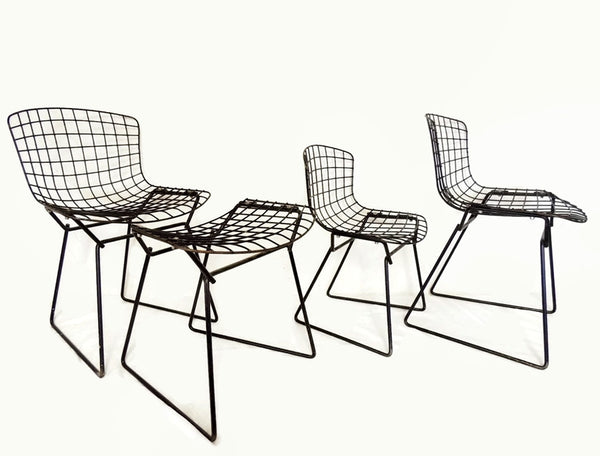 Harry Bertoia Knoll Child Wire Chairs Ottoman Set 1960s - Premier Estate Gallery  - 1