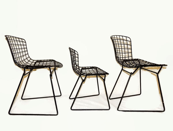 Harry Bertoia Knoll Child Wire Chairs Ottoman Set 1960s - Premier Estate Gallery  - 3