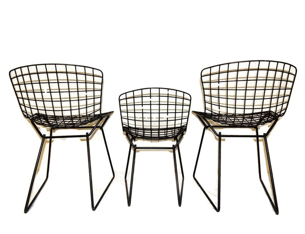 Harry Bertoia Knoll Child Wire Chairs Ottoman Set 1960s - Premier Estate Gallery  - 4