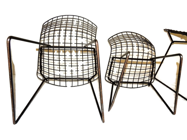 Harry Bertoia Knoll Child Wire Chairs Ottoman Set 1960s - Premier Estate Gallery  - 5