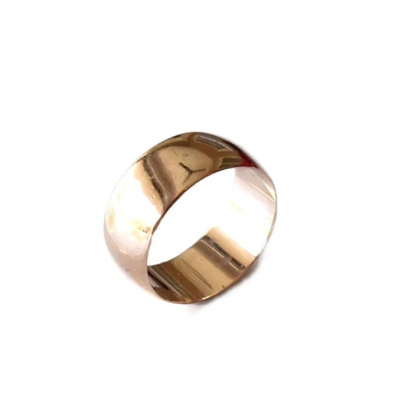 Vintage Men's 14k Rose Gold Wedding Band Wide 9mm