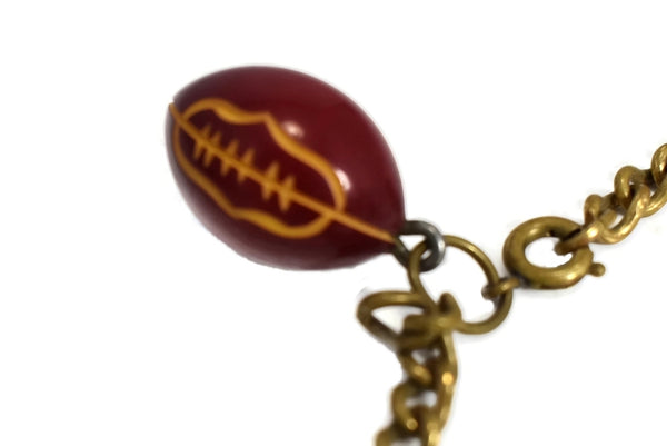 Vintage Football Cheerleader Pep Rally Charm Bracelet c1950s - Premier Estate Gallery 3