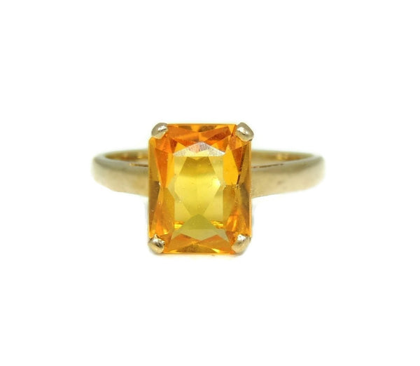 14k Golden Yellow Sapphire Ring Vintage - Premier Estate Gallery  - 3