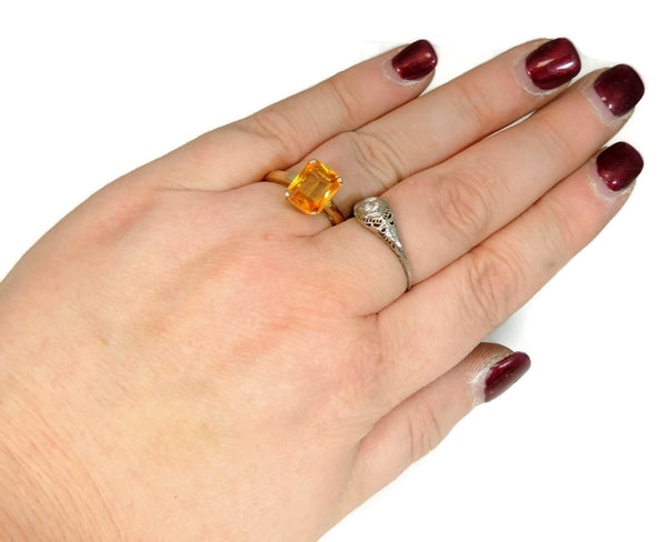 14k Golden Yellow Sapphire Ring Vintage - Premier Estate Gallery  - 2