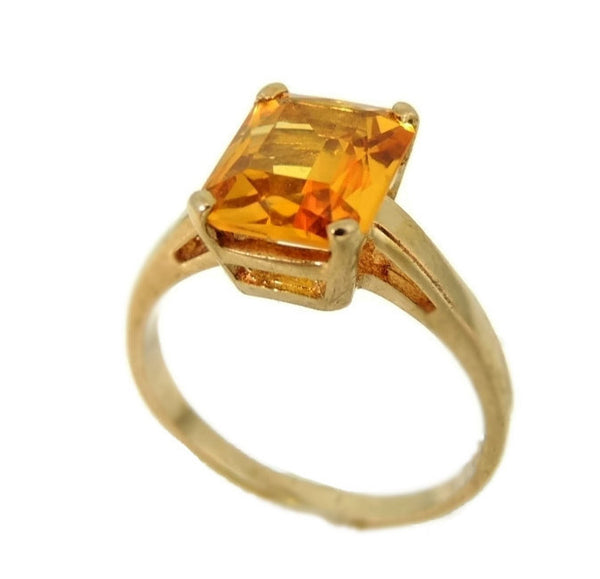 14k Golden Yellow Sapphire Ring Vintage - Premier Estate Gallery  - 1
