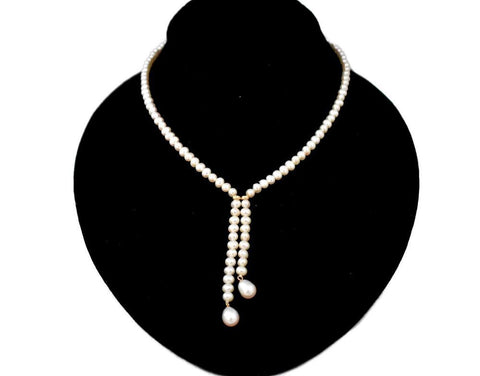 Necklace chains pendants premier estate gallery white cultured pearls tassel necklace 14k gold filigree clasp premier estate gallery aloadofball Gallery
