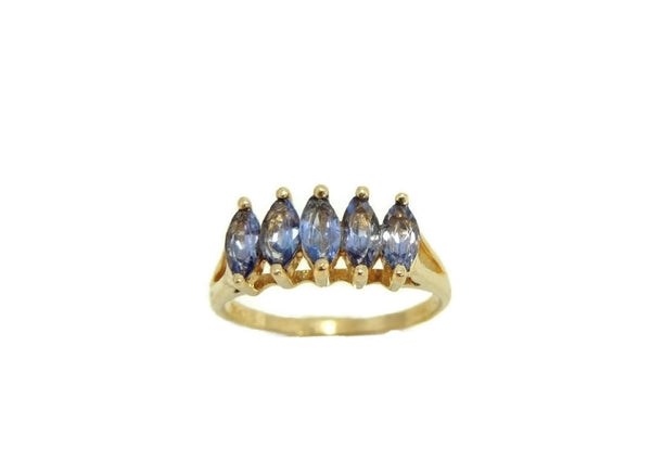 Marquise Tanzanite Ring 14k Gold Estate Beauty - Premier Estate Gallery  - 3