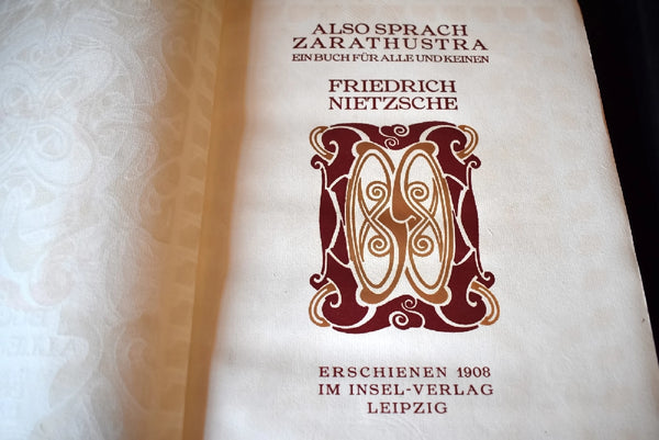 1908 Also Sprach Zarathustra Nietzsche Limited No. 360 of 530, van der Velde -Premier Estate Gallery 4