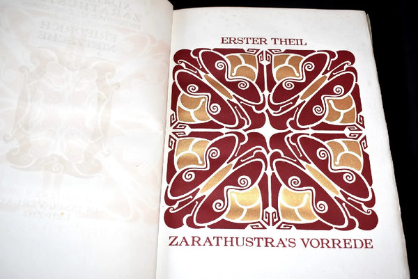 1908 Also Sprach Zarathustra Nietzsche Limited No. 360 of 530, van der Velde -Premier Estate Gallery 5