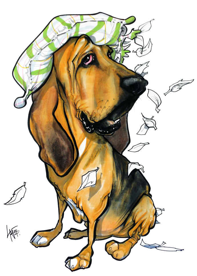 Pet Portrait Spotlight: Bloodhounds