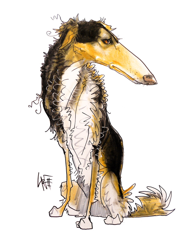Pet Portrait Spotlight: Borzoi