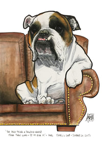 custom dog pet portrait by canine caricatures by john lafree