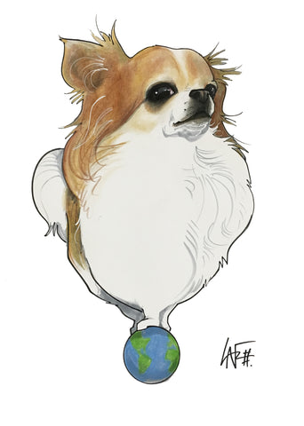 chihuahua dog caricature pet portrait by Canine Caricatures artist John LaFree