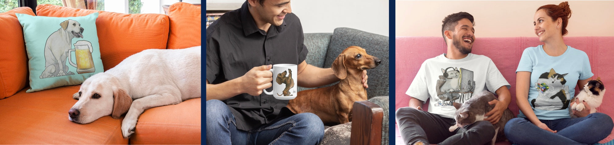 Custom products featuring your pets