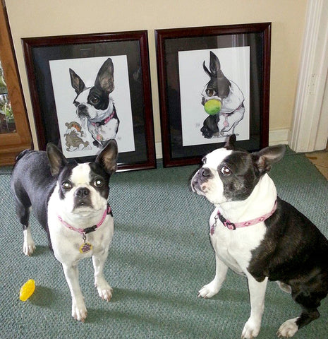 canine caricature pet portrait by john lafree