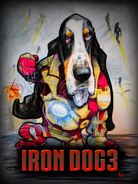 Iron Dog 3 canine caricatures john lafree