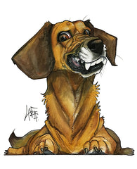 Custom Pet Portrait by Canine Caricatures John LaFree