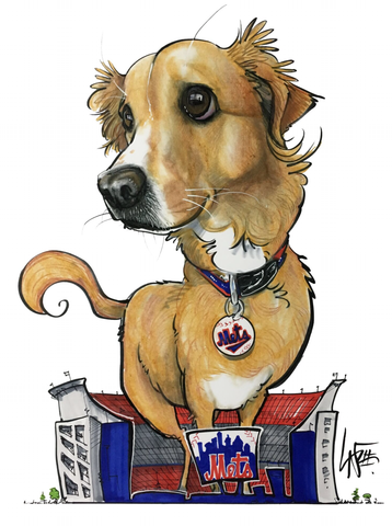 Canine Caricatures pet portrait by john lafree
