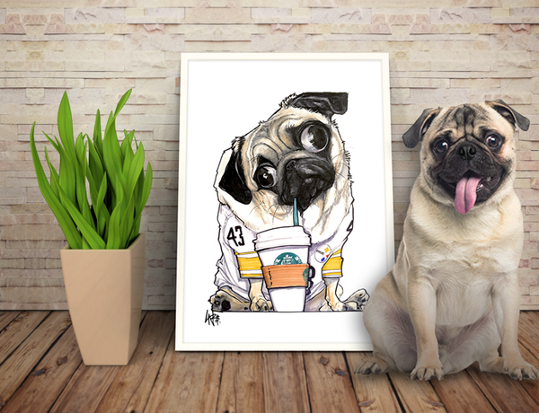 Pet Caricature Portrait by John LaFree Canine Caricatures