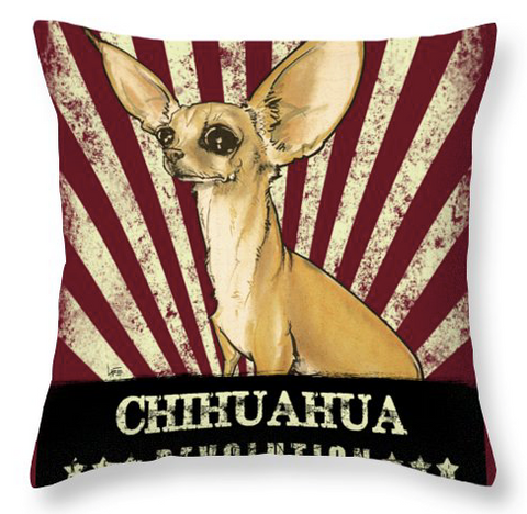 chihuahua revolution throw pillow