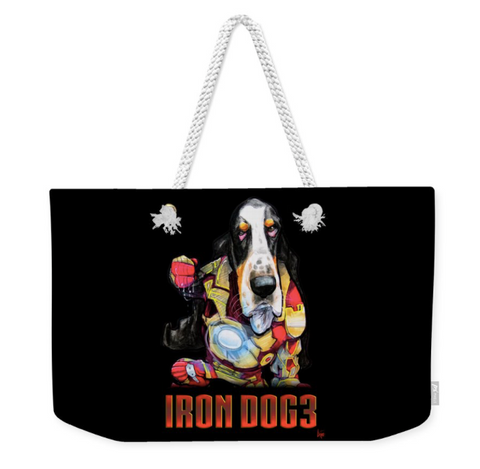 Iron Dog Basset Hound Tote Bag