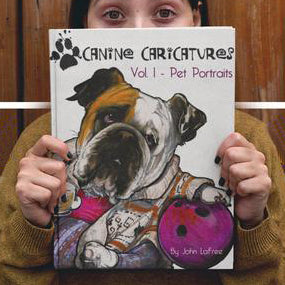Art Books - Custom Pet Portrait by Canine Caricatures John LaFree