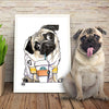 pug - Custom Pet Portrait by Canine Caricatures John LaFree