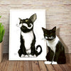 mustache cat - Custom Pet Portrait by Canine Caricatures John LaFree