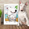 bull terrier - Custom Pet Portrait by Canine Caricatures John LaFree