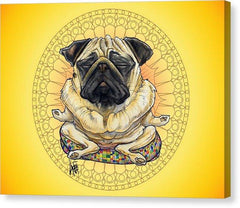 Meditating Pug Collection by Canine Caricatures John LaFree