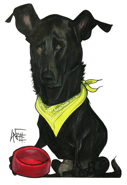 custom dog pet portrait by canine caricatures john lafree