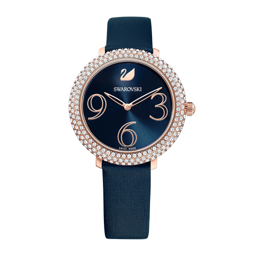SWAROVSKI Crystal Frost Watch, Leather Strap