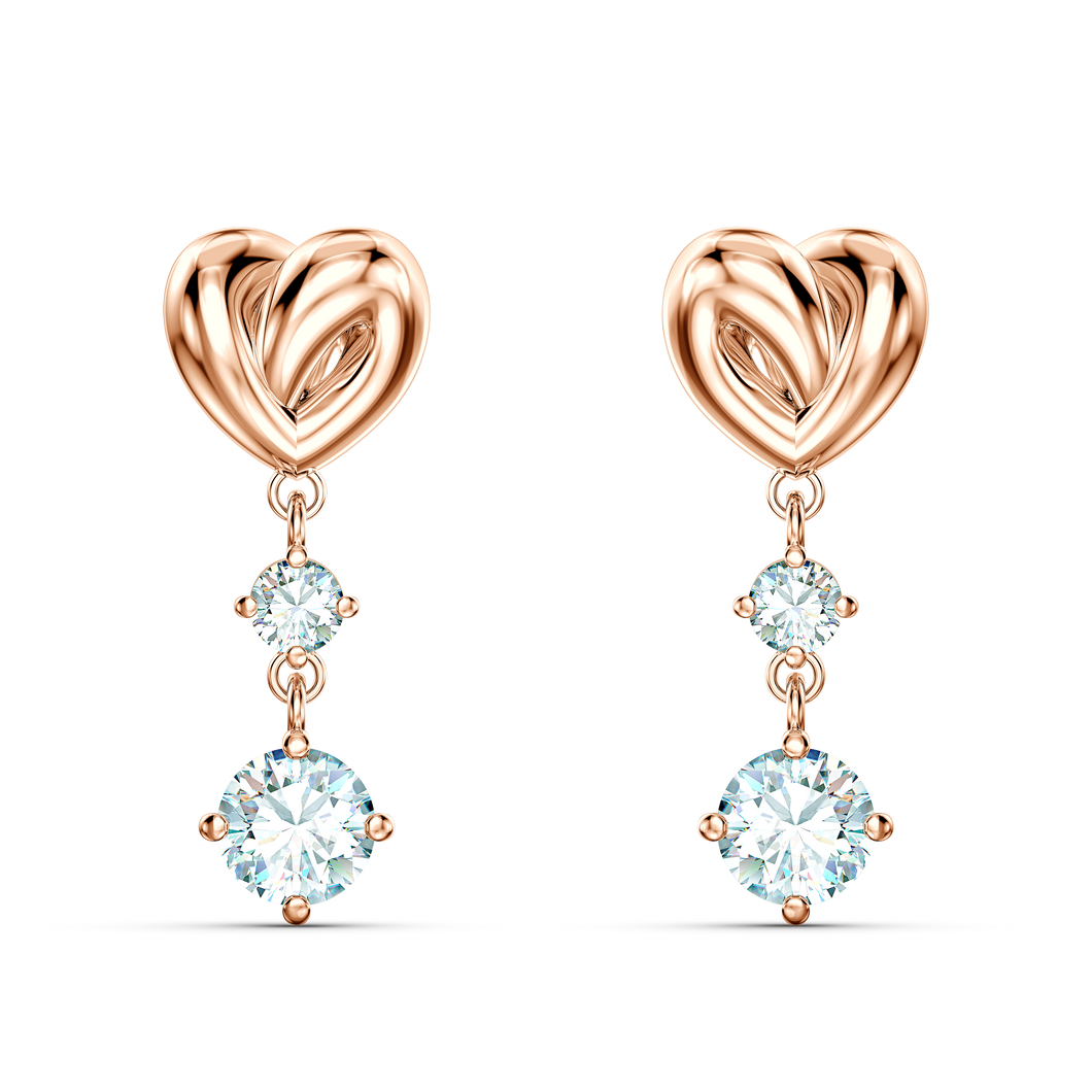 SWAROVSKI Lifelong Heart Pierced Earrings